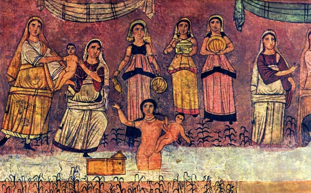 Dura_Europos_fresco_Moses_from_river